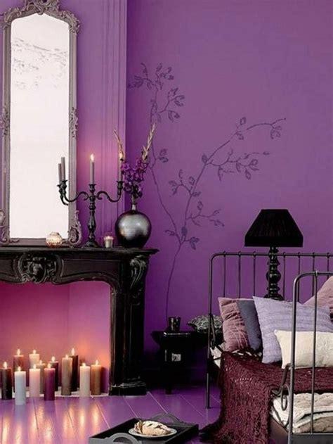 chambre pourpre décoration chambre adulte romantique 28 idées inspirantes