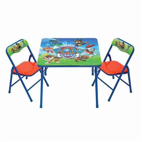 paw patrol table and chair set koh 39 s paw patrol activity table chair set only 10 88