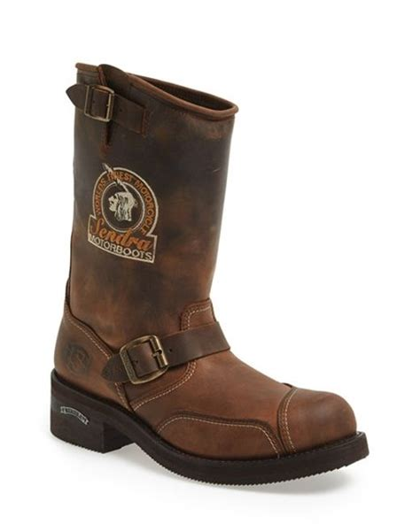 brown motorcycle boots for men sendra 39 rider 39 motorcycle boot in brown for men tan lyst