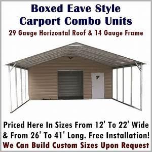 Carport & Storage Combo Units Metal Carport Depot