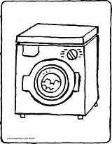 Washing Machine Drawing Coloring Colouring Vacuum Cleaner Kiddicolour Getdrawings Receiver Mail sketch template