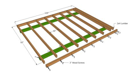 building a shed floor barn shed plans howtospecialist how to build step by