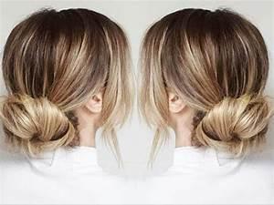 Chignon Cheveux Mi Long : chignon rapide et facile angeliahair youtube ~ Melissatoandfro.com Idées de Décoration