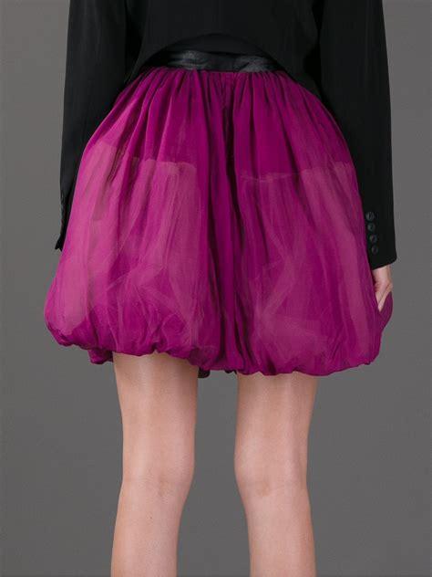 lyst red valentino highwaisted balloon skirt  purple