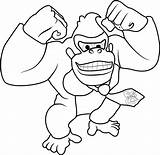 Donkey Kong Coloring Pages King Mario Printable Super Sonic Happy Diddy Coloringpages101 Getcolorings Getdrawings Template Coloringonly sketch template