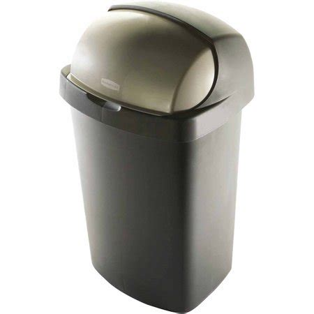 rubbermaid  gallon roll top wastebasket bronze walmartcom