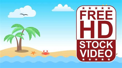 hd video backgrounds cartoon style scene beachside