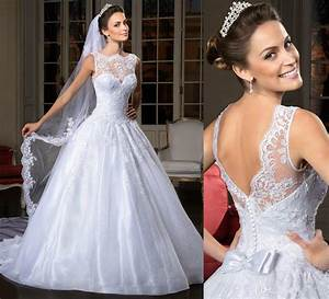 2016 trendy ball gown wedding dresses lace bridal gown With backless corset wedding dresses
