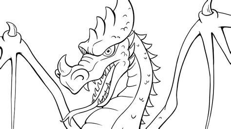 Kleurplaten Draken by Kleurplaat Draak Efteling