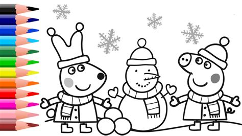 Peppa Pig Coloring Pages Peppa Pig Christmas Coloring Book