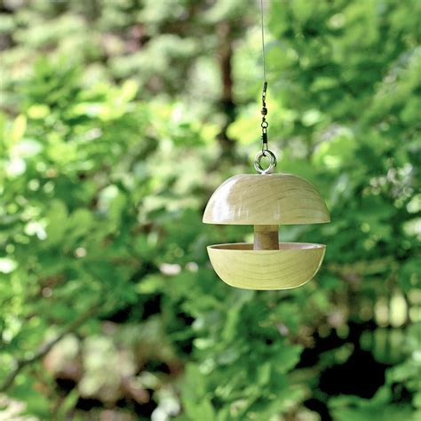 ash applecore birdfeeder by natural wood company