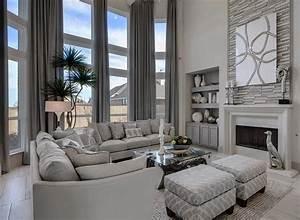 Amazing, Monochromatic, Grey, Transitional, Style, Living, Room, Decor, With, Grey, Sofas, U2026