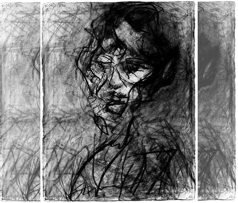 Abstract Black And White Portrait by Black And White Abstract Painting Abstract Painting