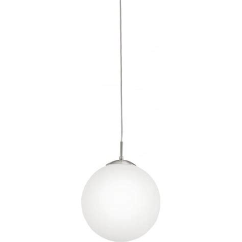 eglo lighting rondo large opal white glass globe ceiling