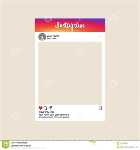template mockup  social media instagram photo frame
