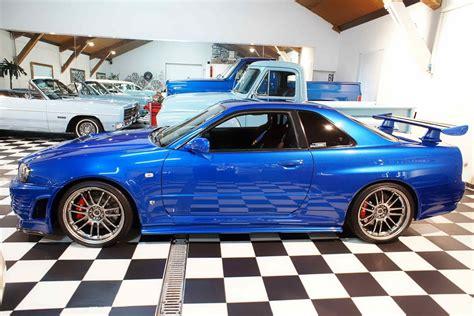 blue nissan skyline fast and furious nissan cars news paul walker s skyline gt r for sale 1m