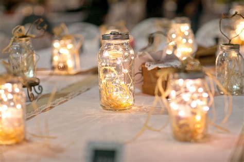 diy raffia  string light centerpieces