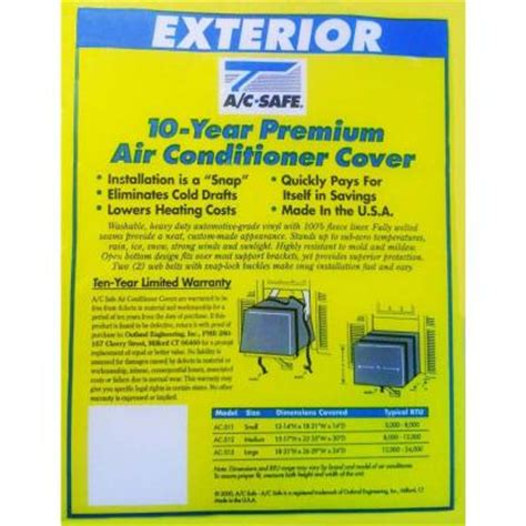 ac safe small air conditioner exterior cover ac 511 the