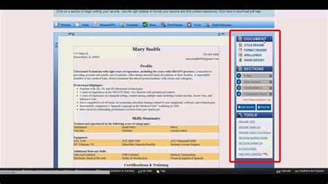 Resume Builder Tool by Creating A Resume With The Resume Builder Tool