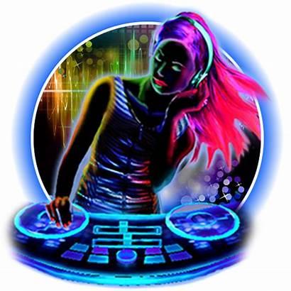 Dj Neon Theme Rock Radio Autostream Transparent