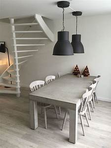 Deko Tafel Küche : betonnen tafel met zet opgeknapte stoeltjes lampen serie hektar ikea m bel einrichtung und ~ Sanjose-hotels-ca.com Haus und Dekorationen