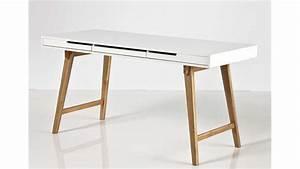 Schreibtisch Höhenverstellbar Weiß : schreibtisch anneke wei matt lackiert massivholz natur ~ Markanthonyermac.com Haus und Dekorationen