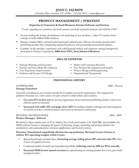product manager resumes l winning resume