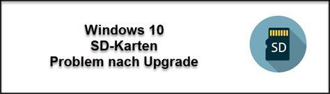 sd karte wird nicht mehr erkannt windows  update