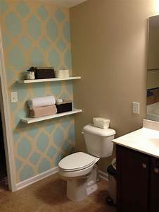 Bathroom accent wall home ideas pinterest for Accent wall paint ideas bathroom