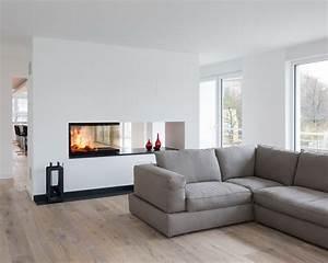 Moderne Kamine Als Raumteiler : ein dreiseitig einsehbarer kamin als raumteiler der einsatz ist von spartherm arte u 90 ~ Markanthonyermac.com Haus und Dekorationen