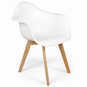 Chaise Blanche Scandinave : chaises scandinaves design daven blanc lot de 4 pas cher scandinave deco ~ Teatrodelosmanantiales.com Idées de Décoration