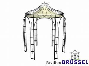 Romantik Pavillon Metall. pavillon romantik rost 340cm. clp metall ...