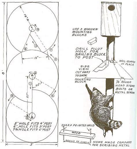 dyi Squirrel Baffle Conical baffle instructions.   Craft