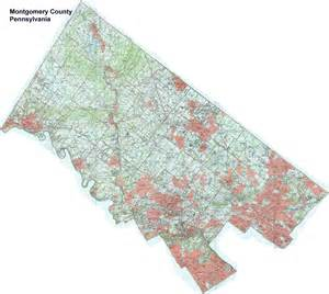 Montgomery County PA Township Map