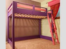 DIY Loft Bed A loft bed is a great space saver for a kid