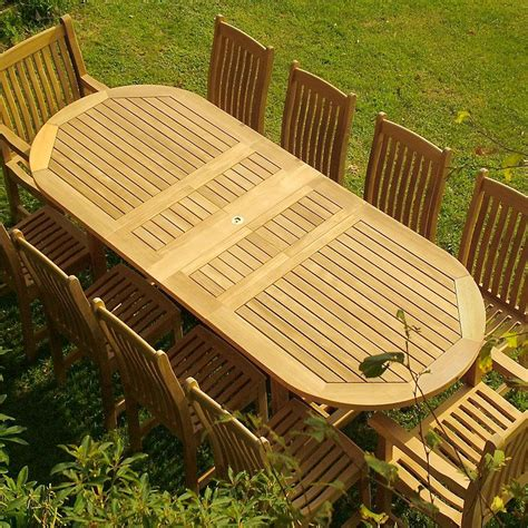 pc montserrat dining set teak outdoor furniture