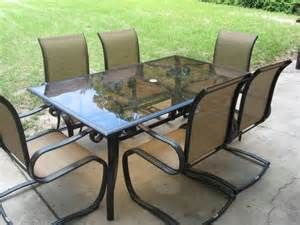 hton bay patio table and 6 chairs home