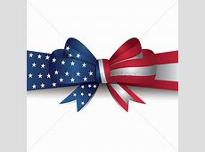 Usa flag ribbon bow Vector Image 1512284 StockUnlimited