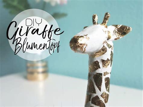 giraffe kostüm selber machen diy giraffe blumentopf aus modelliermasse selber machen