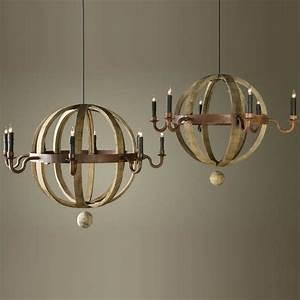 Bobo intriguing objects wine barrel planet chandelier