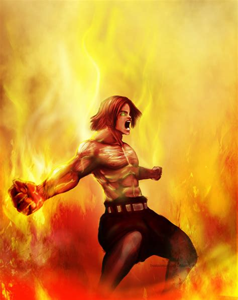 Fire Fist Ace By Buatanmari On Deviantart