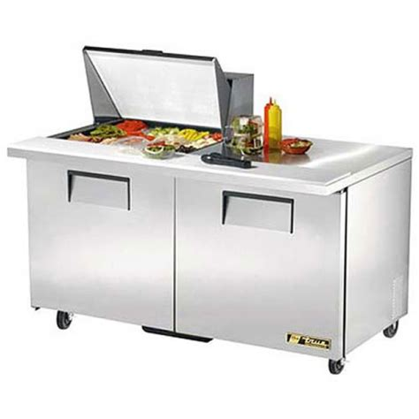 true sandwich prep table true tssu 60 12m b hc refrigerated mega top sandwich and