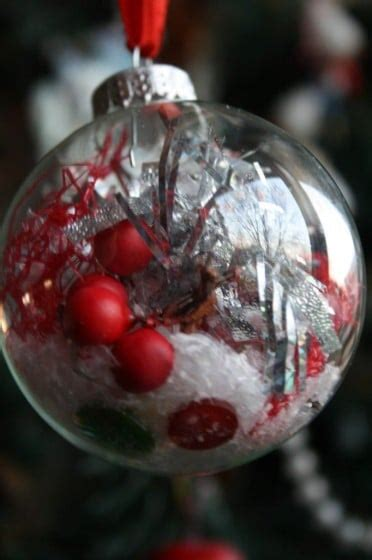 decorated clear glass christmas balls happy hooligans