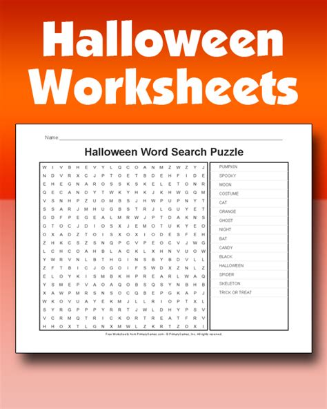 halloween worksheets primarygames play free online games