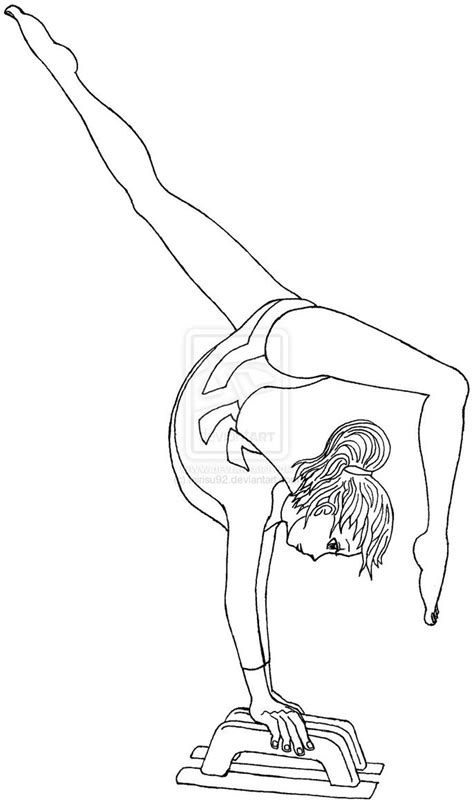 library  gymnastics leotard graphic black  white  black  white coloring page png