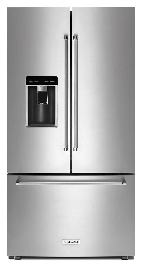 counter depth refrigerator dimensions kitchenaid kitchenaid krfc704fps 23 8 cu ft 36 quot counter depth