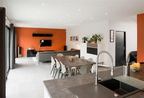 cuisine salon salle à manger décoration cuisine ouverte sur salle a manger