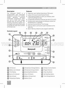 Honeywell Cm727 Cm700 Series Thermostat User Guide