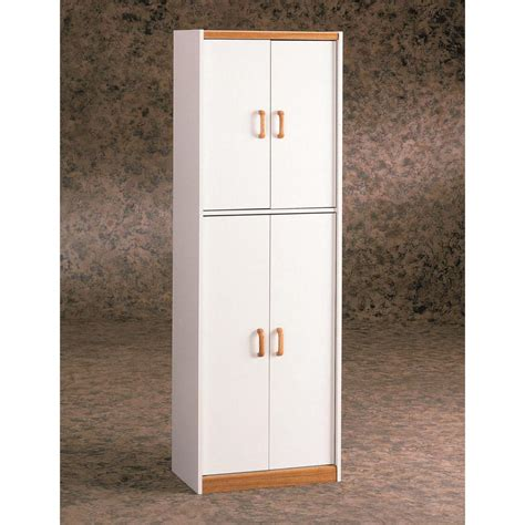 Ameriwood Pantry Storage Cabinet by Ameriwood 4 Door Storage Pantry In White 4506 The Home Depot