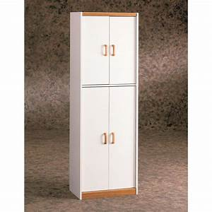 ameriwood 4 door storage pantry in white 4506 the home depot With kitchen colors with white cabinets with sticker printer walmart